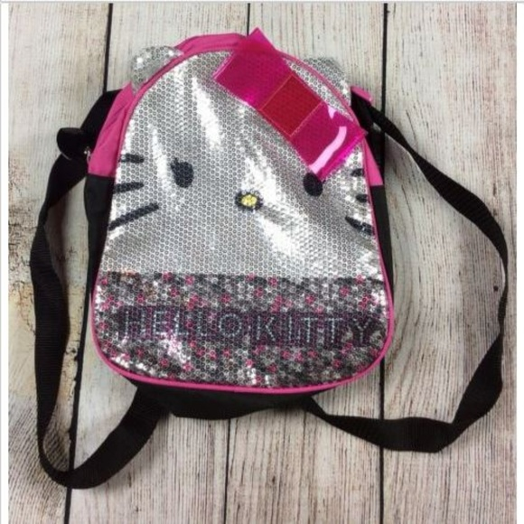 60002dbbaa07 Sanrio Hello Kitty Sequin Backpack Pink Black. M 5b5a1ce1035cf16a86d4bfed
